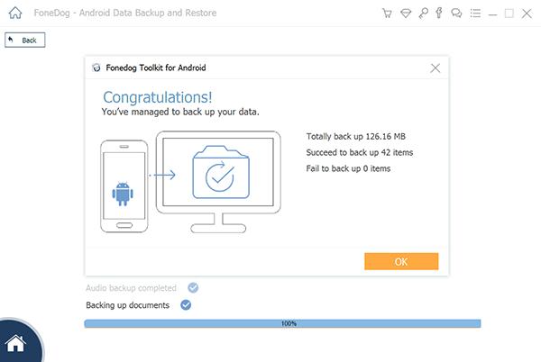 Principaux outils Sauvegarde des applications et des données d'application Android FoneDog Completion Backup