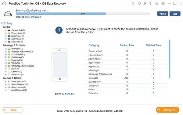 Lancer FoneDog Toolkit - Récupération de données iOS