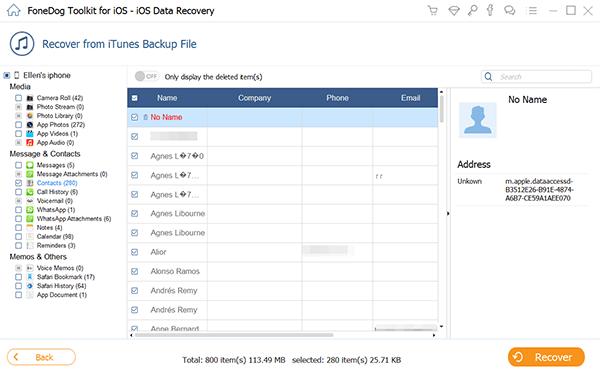 Comment envoyer des contacts depuis un iPhone via des sauvegardes iTunes