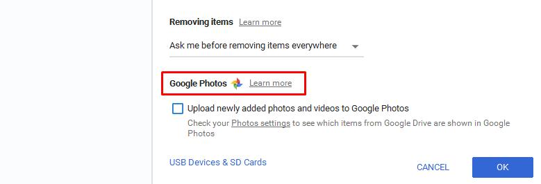 Vérifier l'état de la sauvegarde Google Photos