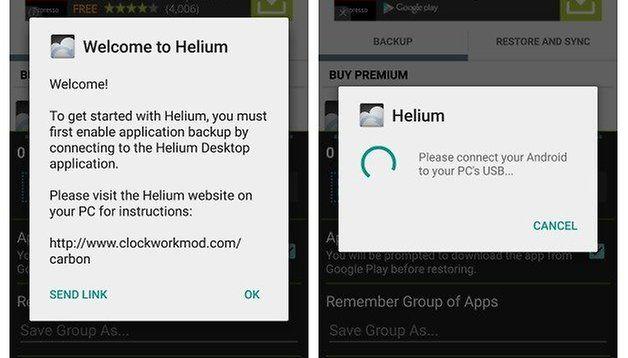 Top Outils Sauvegarde application et données d'application Android Helium