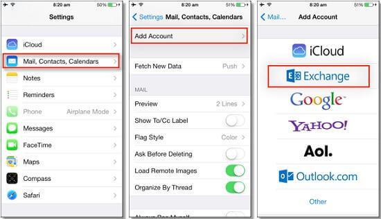 Comment exporter des contacts iPhone par e-mail
