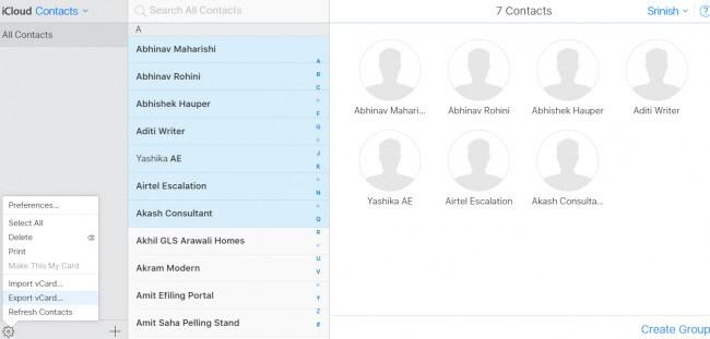 Comment exporter des contacts iPhone via iCloud