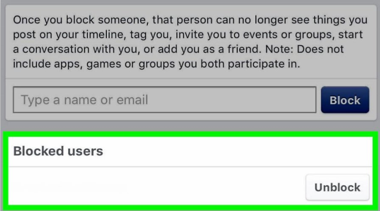 Débloquer l'utilisateur