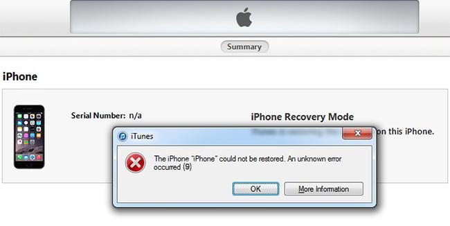 Comment réparer l'erreur 9 de l'iPhone X