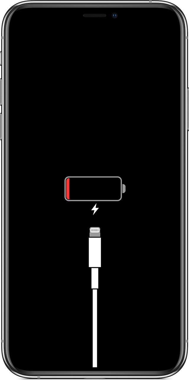 Chargez l'iPhone X pour réparer l'iPhone X bloqué sur le logo Apple