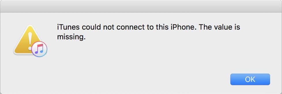Itunes n'a pas pu se connecter à l'Iphone